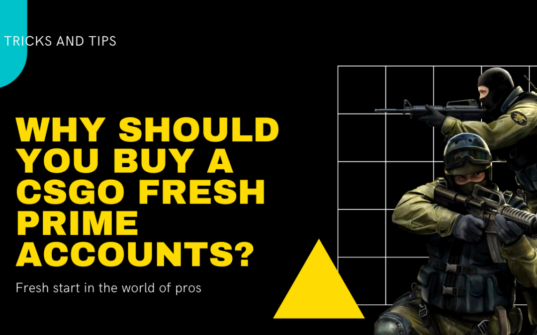Why should you buy a CSGO Fresh Prime Accounts?