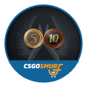 CSGO 10 & 5 Year Veteran Coin Fresh Account Non Prime