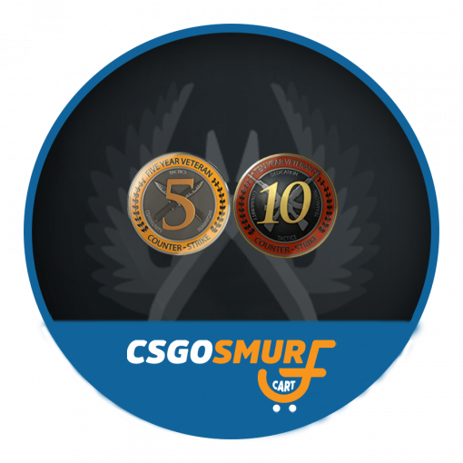 CSGO 5 & 10 Year Veteran Coin Fresh Account (Non Prime) | 1000 Hours+